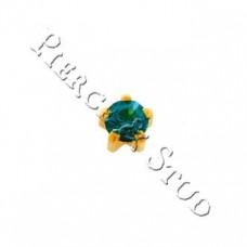 Серьги-иглы мини крапан Голубой циркон - Mini
