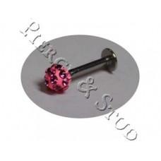 Штанга Губа/Подбородок Украшение Розовое 2