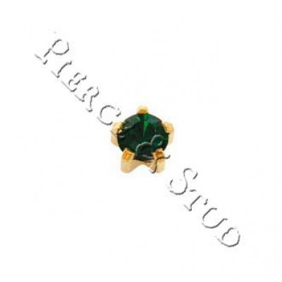 Серьги-иглы мини крапан Изумруд - Mini