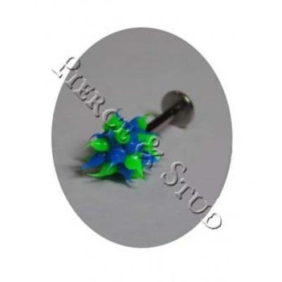 Штанга Губа/Подбородок Украшение Зелено-Синее