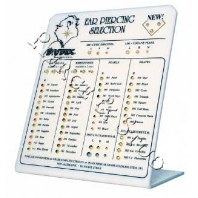 Стенд со всеми видами медицинских игл-серег